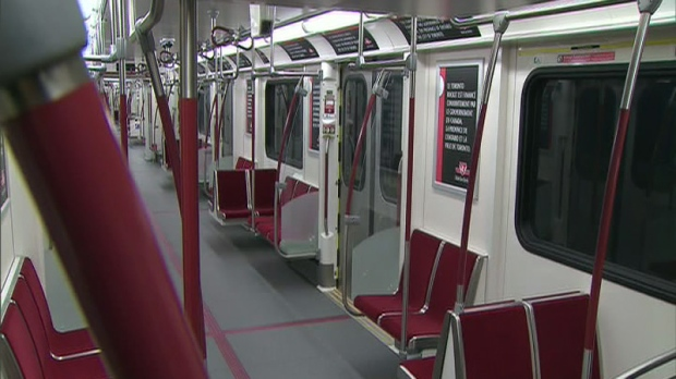 The TTC's new subway cars were made available for inspection at Downsview Station on Thursday, Oct. 14, 2010.
