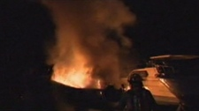 Fire destroys boat Toronto Humber Yacht Club