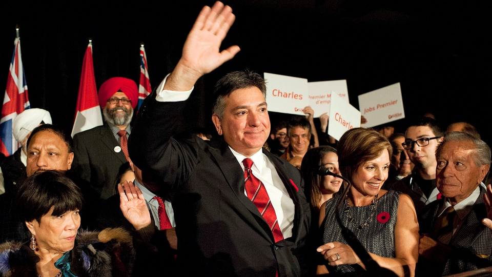 Mississauga South MPP Charles Sousa announces his bid for the leadership of the Ontario Liberal Party in Mississauga on Saturday, Nov. 10, 2012. (Aaron Vincent Elkaim / THE CANADIAN PRESS)