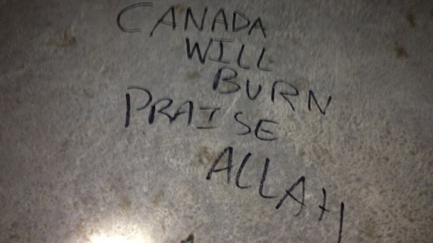 War memorial vandalized