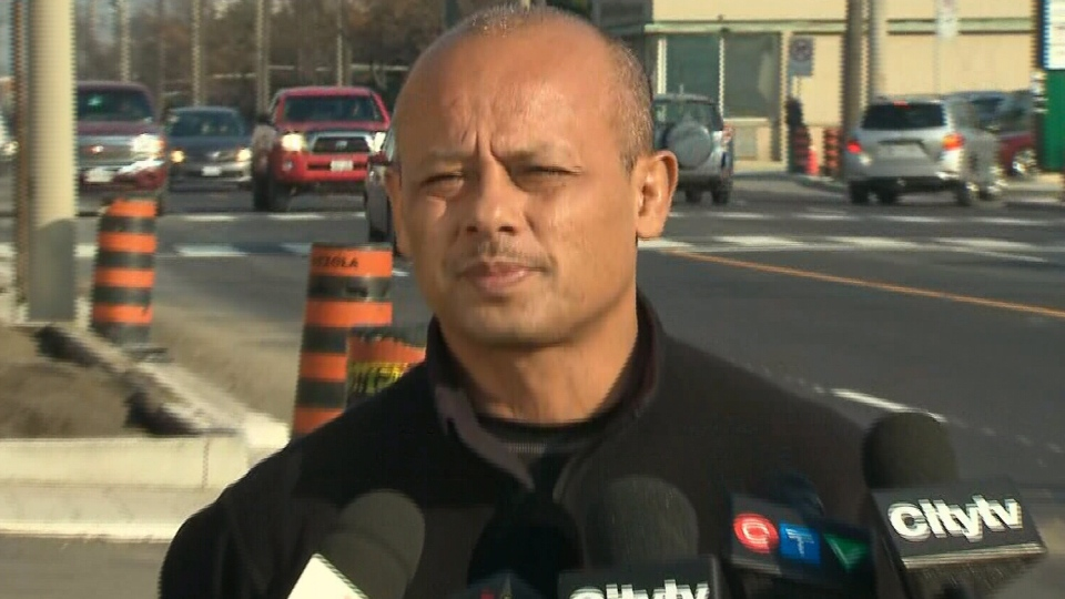 TTC driver Dino Oroc, who left his streetcar in order to chase down a man who had allegedly sexually assaulted a female passenger, appears at a press conference in Toronto on Friday, Nov. 16, 2012.
