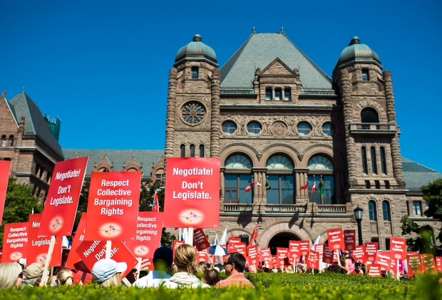 Teachers' rally at Queens Park on Aug. 28, 2012.