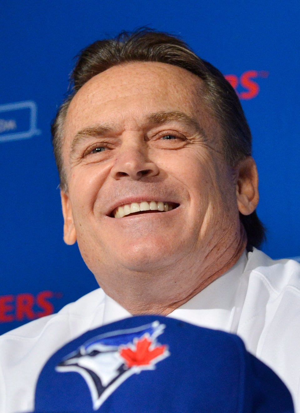 Toronto Blue Jays new manager John Gibbons speaks to he media during a press conference in Toronto on Tuesday, Nov. 20, 2012. (Nathan Denette / THE CANADIAN PRESS)