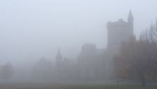 Fog in Toronto on Nov. 21, 2012.