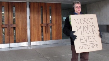 Toronto mayor removed office sign