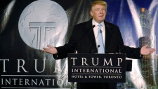 Donald Trump in Toronto on Oct. 12, 2007.