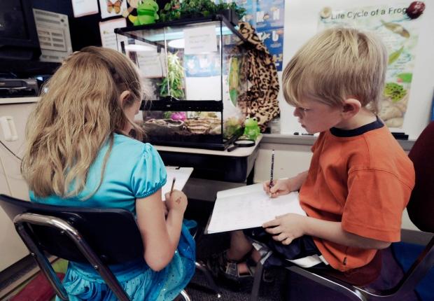 Kids in classroom generic