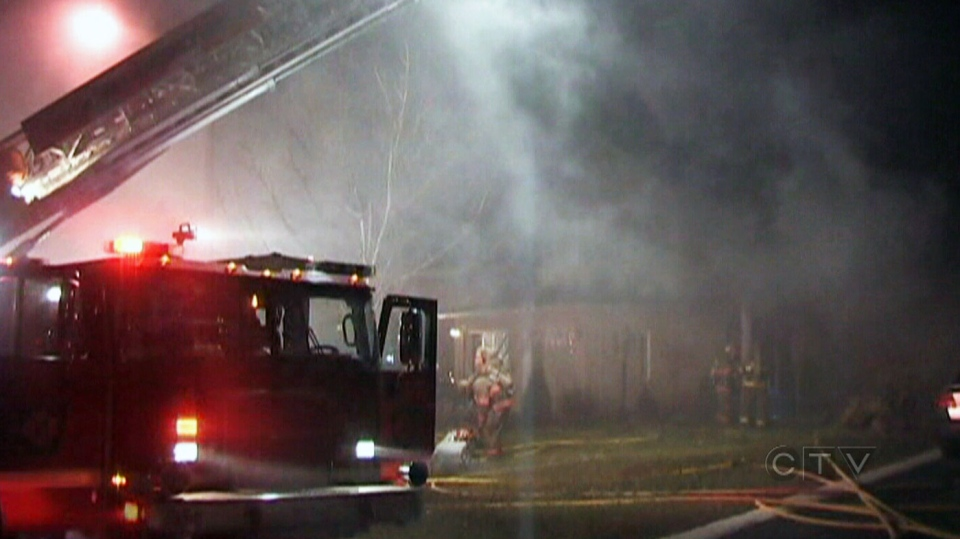 Emergency crews fight a massive house fire in Brampton Monday, Dec. 3, 2012.