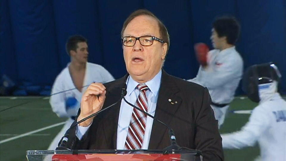 Canadian Olympic Committee President Marcel Aubut speaks during a funding announcement in Toronto on Wednesday, Dec. 5, 2012.