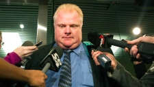 Mayor Rob Ford speaks after being granted stay