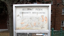 A  sign mapping out Regent Park now serves as a relic of the hope and excitement that once surrounded the creation of Canada�s first and largest socially-assisted housing project, now widely considered a failure.