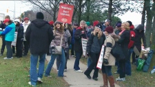 Elementary school teachers strike