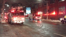 Early morning condo fire Toronto