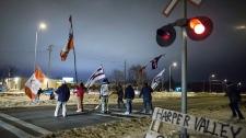 Protesters abandon CN railway blockade