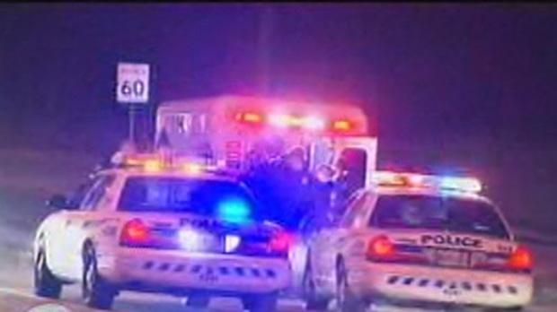 Toronto police officer injured foot pursuit
