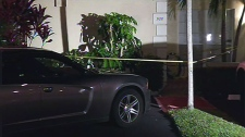 Crime scene in Hallandale Beach, Florida