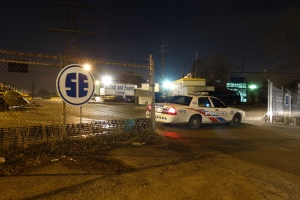 Toronto police are investigating after a body was discovered in an industrial area near Old Weston Road and St. Clair Avenue West on Saturday, Jan. 12, 2013. (CP24/ Tom Podolec)