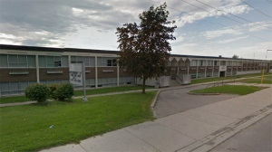 Huron Heights Secondary School in Newmarket is pictured in this Google Maps image.