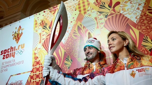 Sochi 2014 relay torch uniform Winter Olympics