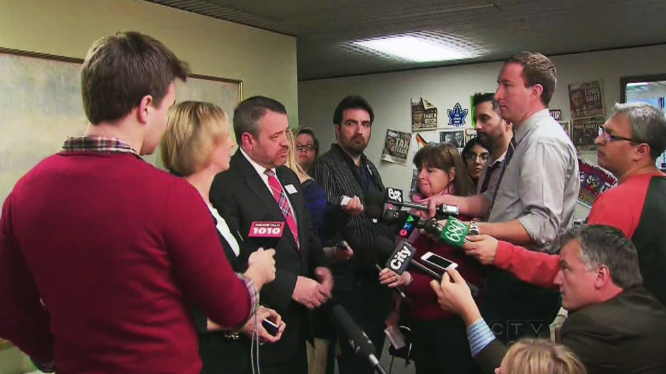 TTC officials take questions after five Toronto Transit Commission enforcement officers were dismissed from their jobs for falsifying tickets, along with three others who are being accused of general misconduct on Tuesday, Jan. 15, 2013/