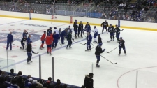 Toronto Maple Leafs open practice ACC lockout