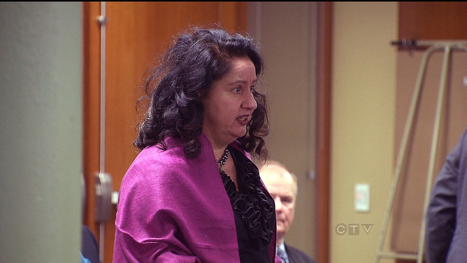 Toronto resident Elsa La Rosa speaks during a TTC board meeting at city hall on Monday, Jan. 21, 2013.