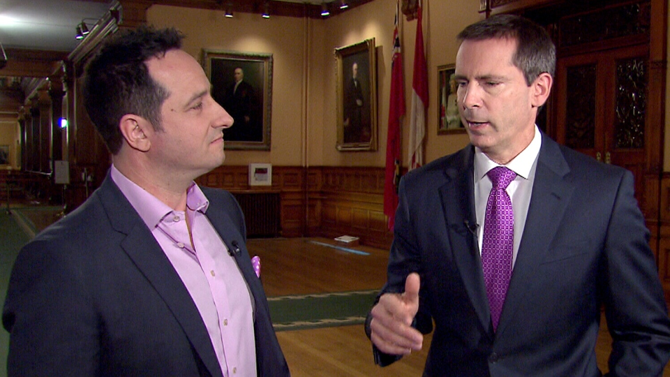 Ontario Premier Dalton McGuinty speaks with CTV's Paul Bliss, Thursday, Jan. 24, 2013.