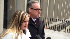 Sgt. Russell's widow speaks outside trial
