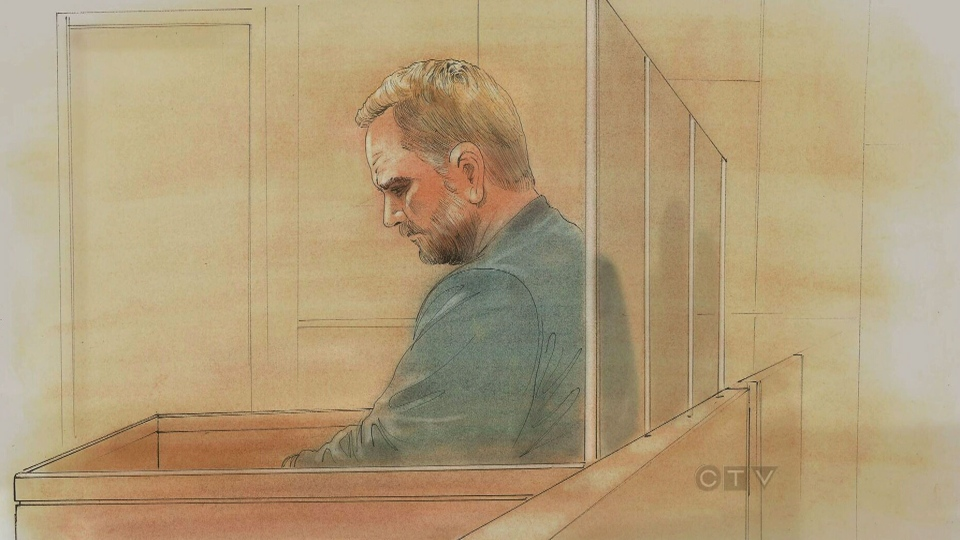 This artist sketch shows Richard Kachkar, 46, during his court appearance on Monday, Feb. 4, 2013.