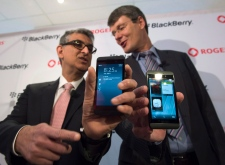 Thorsten Heins shows off the Blackberry 10