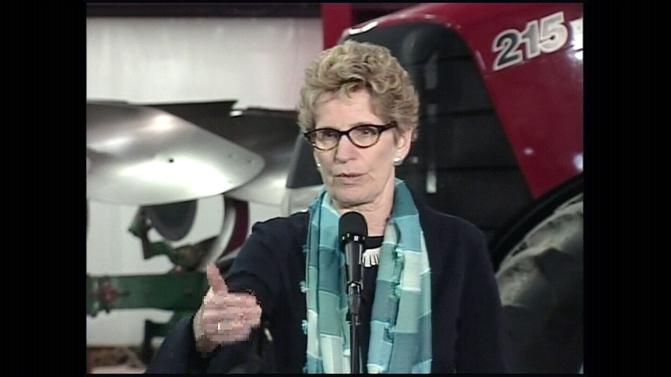 Ontario Premier Designate Kathleen Wynne speaks at a press conference at Gwillimdale Farms in Bradford, Ont., Wednesday, Feb. 6, 2013.