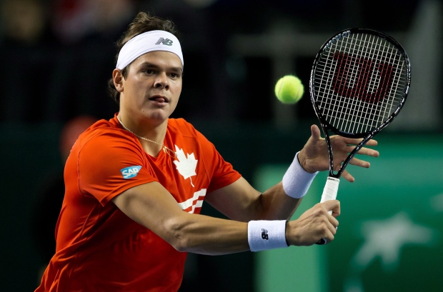 Milos Raonic Canada Italy Davis Cup tie Vancouver