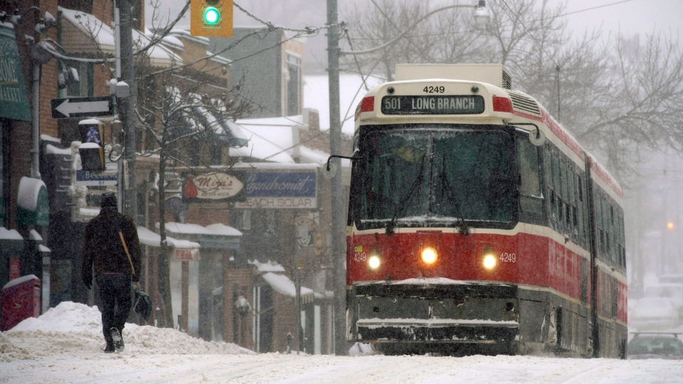 A heavy snowstorm is expected to blow through Toronto for several hours, dumping up to 25 centimetres of the white stuff on the area.