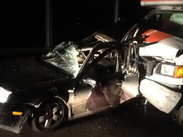 17-month-old, mom taken to hospital after Kitchener crash