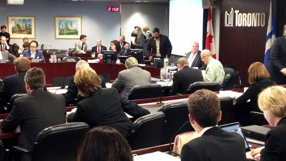 An executive committee sits down to debate the merits of a multibillion-dollar resort and casino complex proposed for the downtown core. (Peter Leclair / CTV Toronto)