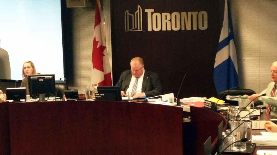 Mayor Rob Ford is ratcheting up the pressure on undecided city councillors as his 12-member executive committee sits down to debate the merits of a multibillion-dollar resort and casino complex proposed for the downtown core. (Peter Leclair / CTV Toronto)