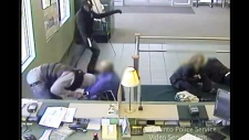 Toronto police release video footage of violent weekend bank robbery