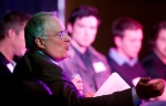 In this file photo, Ken Dryden talks during a panel discussion in Calgary on April 22, 2013. (Larry MacDougal/ THE CANADIAN PRESS)
