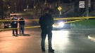 A man is in hospital following a shooting in the Blackthorn Avenue and Kenora Crescent area late Monday.