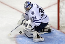 Toronto Maple Leafs goalie James Reimer