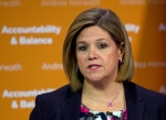 NDP leader Andrea Horwath speaks during a press conference regarding the Ontario budget in Toronto on Tuesday, May 14, 2013. (Nathan Denette / THE CANADIAN PRESS)
