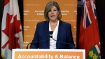 NDP Leader Andrea Horwath speaks about supporting the budget, Tuesday, May 21, 2013.