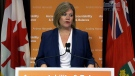 NDP Leader Andrea Horwath speaks about approving the budget, Tuesday, May 21, 2013.