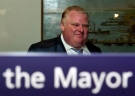 Mayor Rob Ford walks out of his office at City Hall in Toronto, Friday May 17, 2013. (Frank Gunn / THE CANADIAN PRESS)