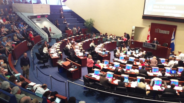 Toronto city council has voted against a downtown casino and expanded Woodbine gaming facility, Tuesday, May 21, 2013. (Byron Auburn / CTV Toronto)