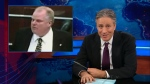 On The Daily Show with Jon Stewart, the late-night host pokes fun at Mayor Rob Ford on May 21, 2013.