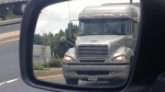 A transport truck on the road in Windsor, Ont.,on Wednesday, June 26, 2013. (Chris Campbell / CTV Windsor)