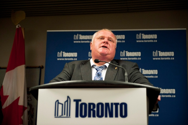 Toronto Mayor Rob Ford's approval rating rises