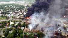 Massive fire in Quebec still burning