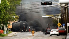 Train derailment sparks explosions in Quebec